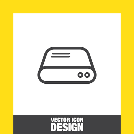 hdd: Hard disk sign vector icon. HDD sign vector icon. Hard drive storage sign. Illustration