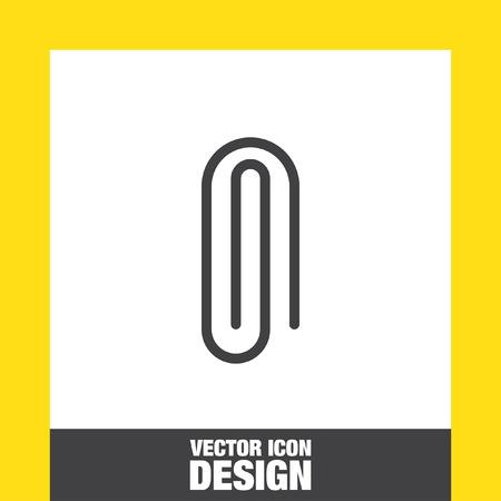 attachment: Paper clip sign line vector icon. Attachment symbol icon. Office equipment symbol. Illustration