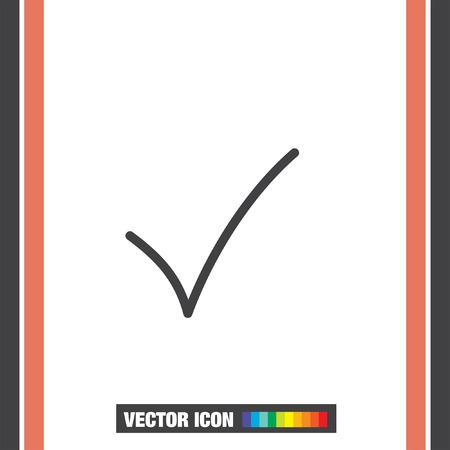 check mark sign: Check mark sign line vector icon. OK sign line icon. Illustration