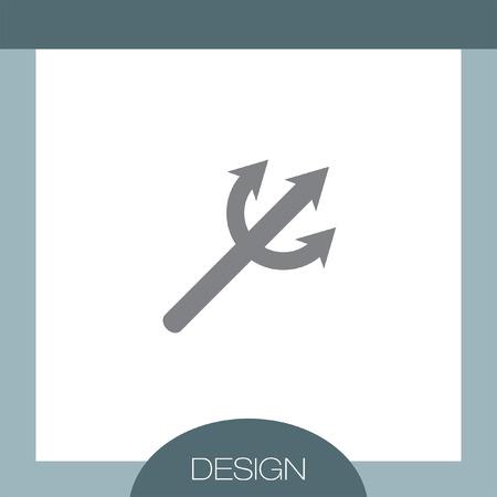 harpoon: Devils Trident vector icon