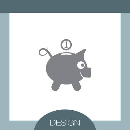 saving accounts: Piggy Bank vector icon