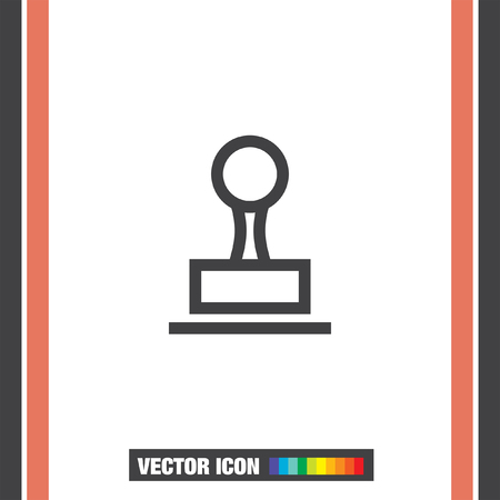 cachet: Stamp sign line vector icon. Cachet symbol. Signet icon. Illustration