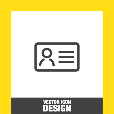 id badge: ID Card sign vector icon. Security badge sign vector icon