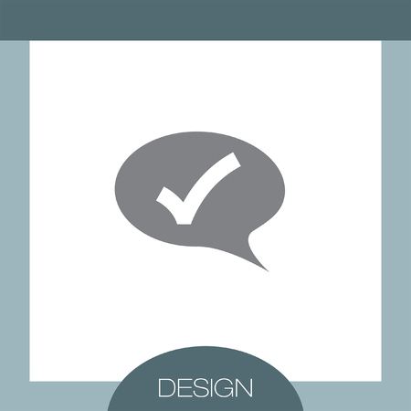 yes communication: Speech Bubble with OK sign vector icon