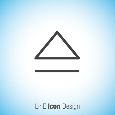 eject: Eject button sign line vector icon. UI control eject symbol.