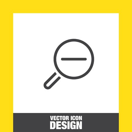 zoom out: Zoom out sign line vector icon. Magnifying glass vector icon. Search icon.