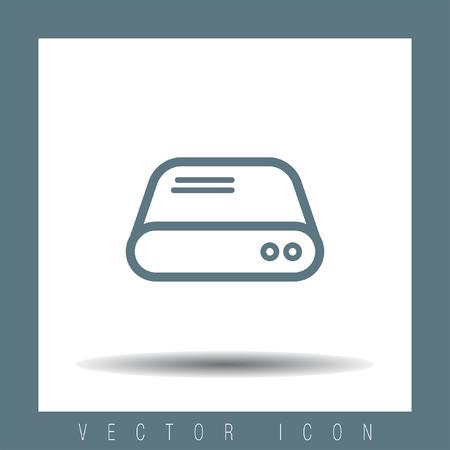 sata: Hard disk sign vector icon. HDD sign vector icon. Hard drive storage sign. Illustration