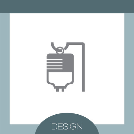 iv drip: IV Bag Medical vector icon Illustration