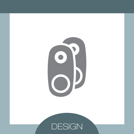 woofer: Audio Speakers vector icon