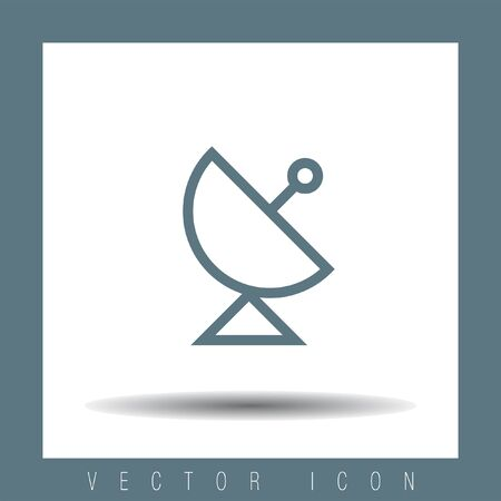 broadcast: Antenna sign line vector icon. Satellite antenna line vector icon. Broadcast sign line icon. Illustration