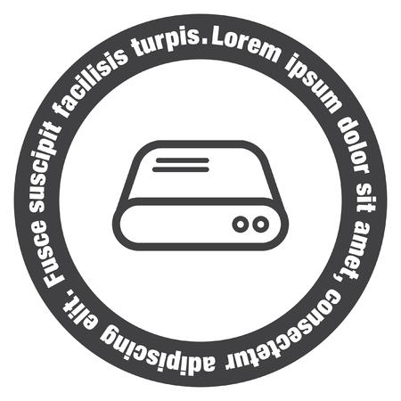 disco duro: Duro signo disco icono del vector. HDD icono de la muestra del vector. signo de almacenamiento en disco duro. Vectores