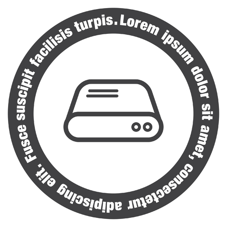 hard drive: Hard disk sign vector icon. HDD sign vector icon. Hard drive storage sign. Illustration