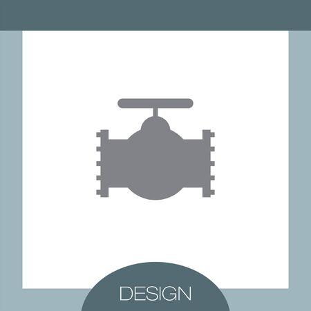 industry: Industry Valve vector icon Illustration