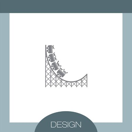 carnival ride: Roller Coaster vector icon