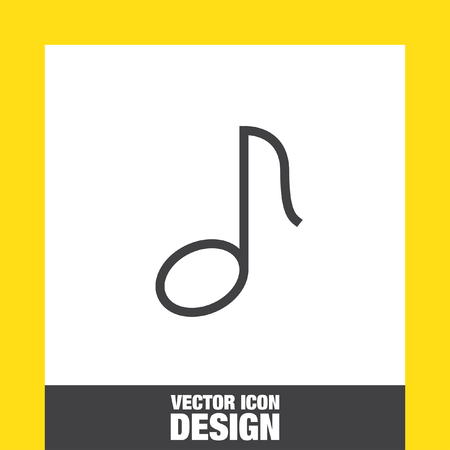 melody: Musical note sign line vector icon. Melody symbol.