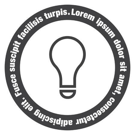 Glühbirne Vektor-Zeichen-Symbol. Lampe-Symbol. Idee Und Lösung Zu ...