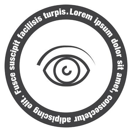 human eye: Eye vector line icon. Human vision sign. Ophthalmology symbol. Search symbol icon.