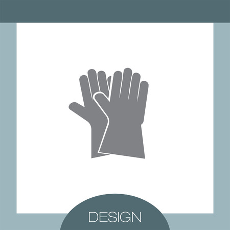 latex glove: Garden Gloves vector icon