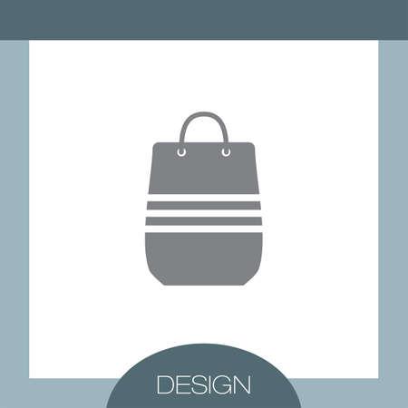 shopping bag vector: Shopping Bag vector icon Illustration