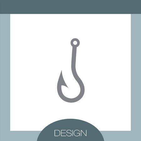 fishhook: Fishing Hook vector icon Illustration