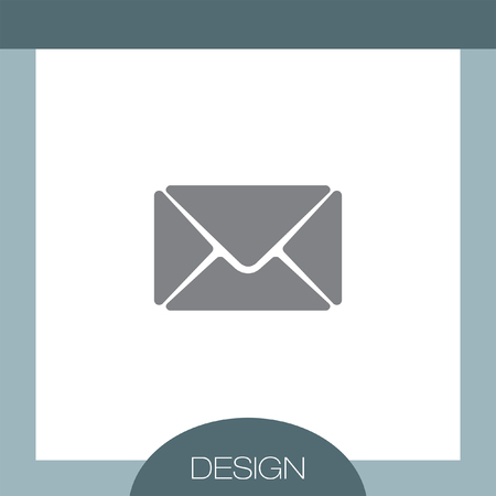 spamming: Mail vector icon Illustration
