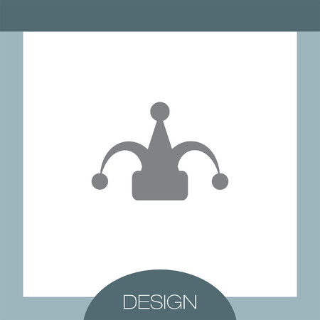 jester hat: Carnival Jester Hat vector icon