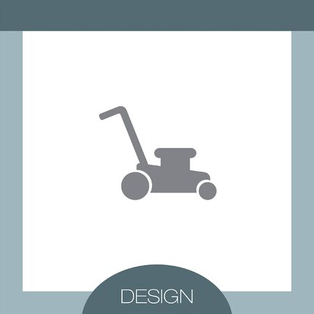 mowing lawn: Mower vector icon