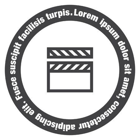 board of director: Video clapper sign vector icon. Video sign vector icon. Movie sign vector icon.