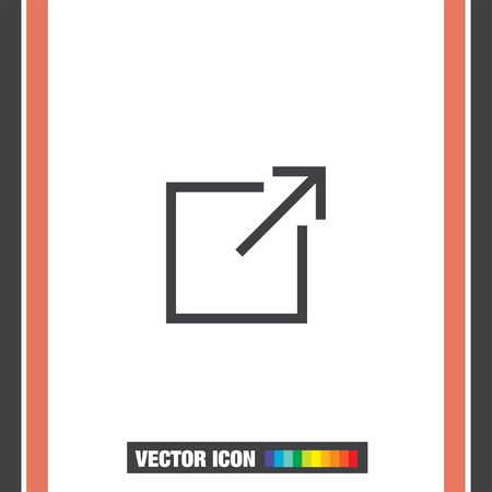 window sign: New window sign line vector icon.