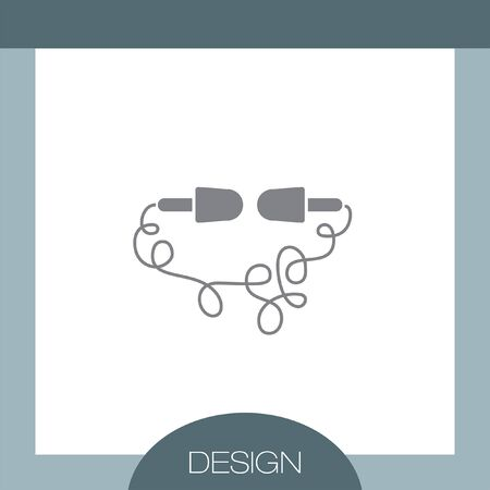 earbuds: Headphones vector icon Illustration