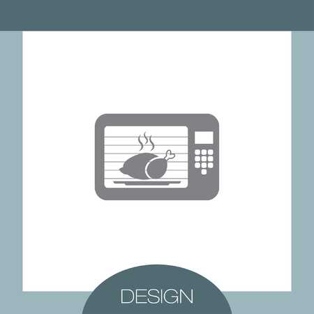 microwave: Microwave Oven vector icon Illustration