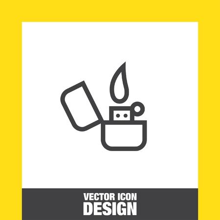 butane: Lighter sign line vector icon. Illustration