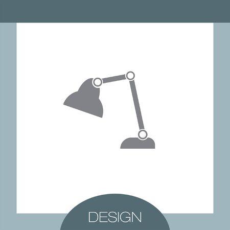 lamp vector: Desk Lamp vector icon Illustration