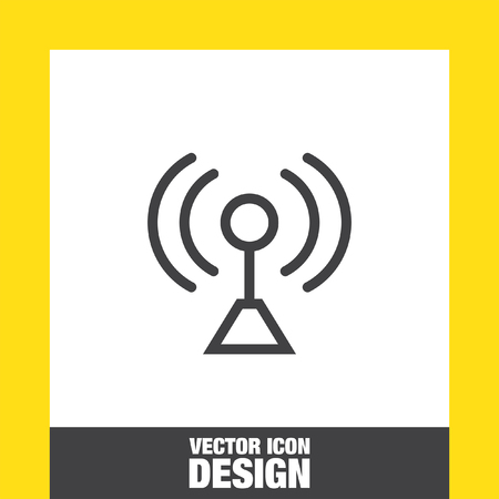 Signal strengt sign line vector icon. Wi Fi signal vector icon. Wireless connection symbol.