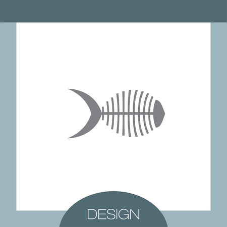 bone fish: Fish Bone vector icon