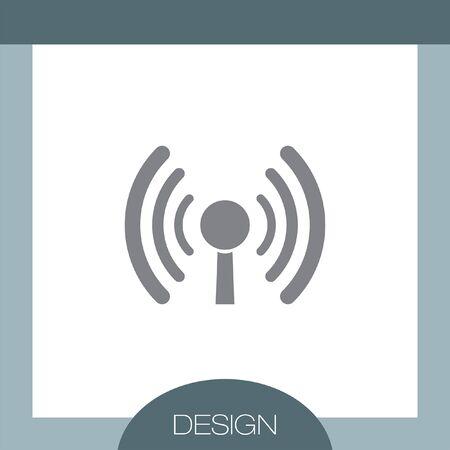 wi: WI FI vector icon
