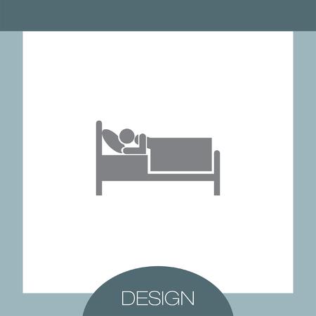 motel: Bed Motel vector icon