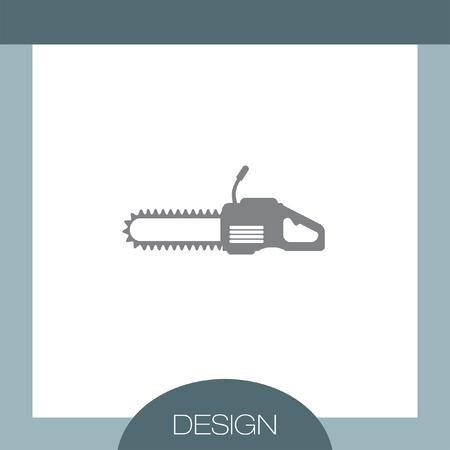 Kettensägen-Vektor-Symbol