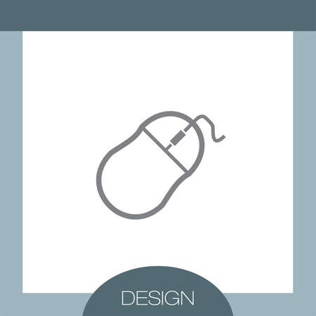 computer mouse: Computer Mouse vector icon Illustration