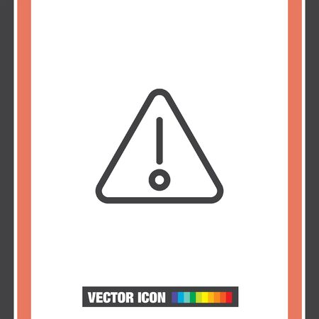 alerts: Alert sign vector icon. Warning sign line icon. Caution sign line icon.