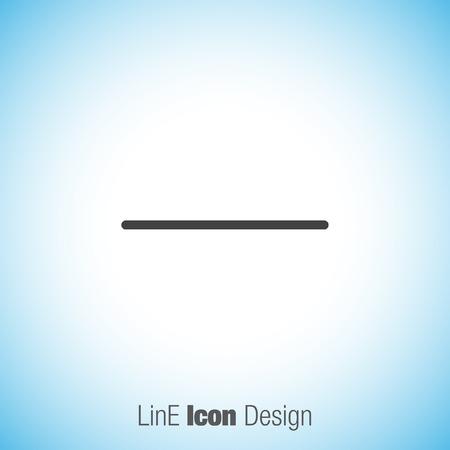 minus: Minus sign line vector icon. Negative symbol.