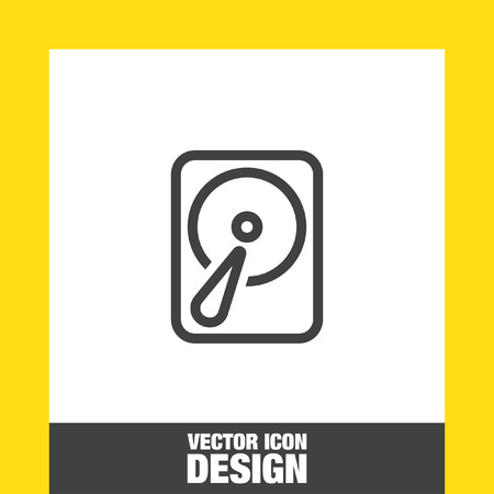 device disc: Hard disk sign vector icon. HDD sign vector icon. Hard drive storage sign. Illustration