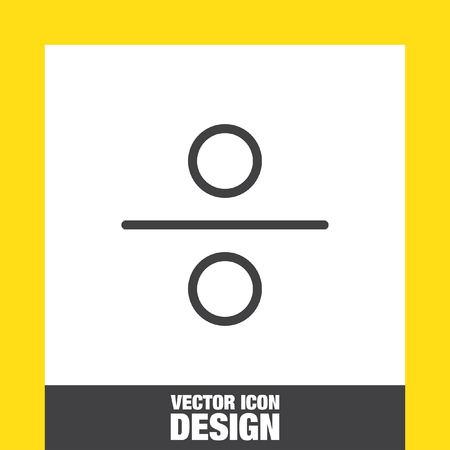 mathematical: Division sign line vector icon. mathematical sign for divide icon. Illustration