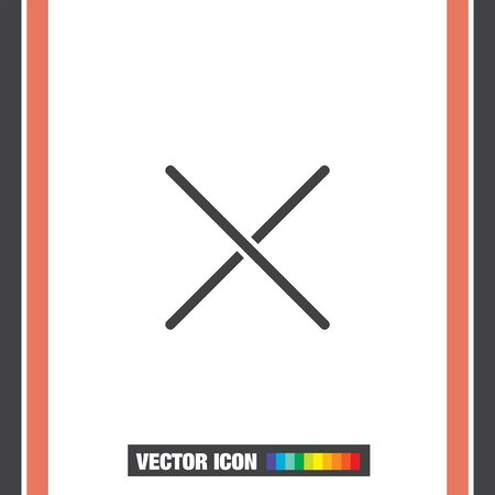 decline: Close sign line vector icon. Multiplication sign line icon. Decline sign line icon.