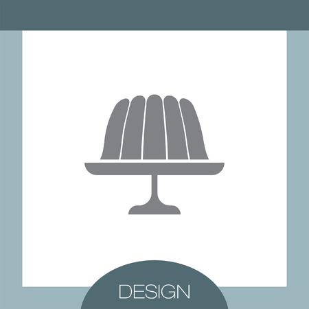 jelly: Pudding Jelly vector icon Illustration