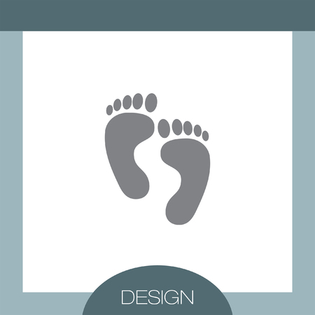 barefoot walking: Footprint vector icon Illustration