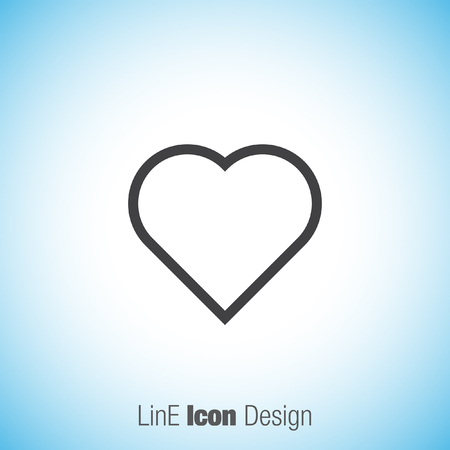 sentiment: Heart sign line vector icon. Love sign. Life symbol