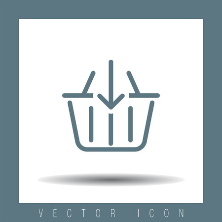 add to basket: Add to shopping basket line vector icon. Online shop sign line icon.