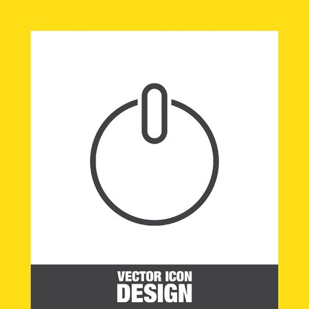 control power: Power button sign vector icon. UI control power symbol.