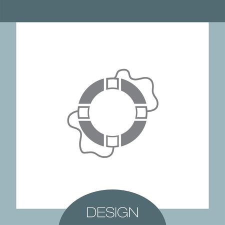 lifebuoy: Lifebuoy vector icon Illustration